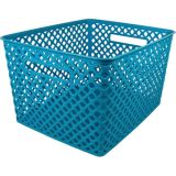 Woven Basket, Large, Turquoise