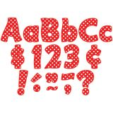 Funtastic Font 4 Letters, Red Polka Dots, Combo Pack