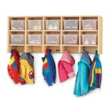 Wall Mount Coat Locker, With clear trays