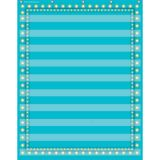 10-Pocket Pocket Chart, Light Blue Marquee, 34 x 44
