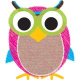 Magnetic Whiteboard Erasers, Burlap Scribble Owl