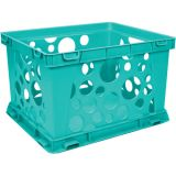 Interlocking Crate, Mini, Teal
