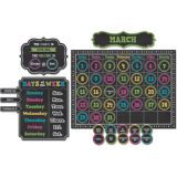 Chalkboard Brights Calendar Bulletin Board Set