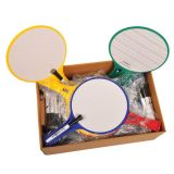 KleenSlate® Dry Erase Paddles, Round, Classroom Set of 12