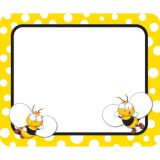 Buzz-Worthy Bees Name Tags