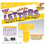4 Uppercase Casual Ready Letters®, Yellow Sparkle