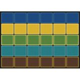 Blocks Abound™ Rug, 5'4 x 7'8 Rectangle, Earthtone
