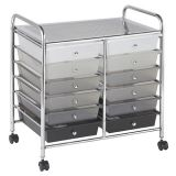Mobile Organizer, 12 Drawer, Grayscale