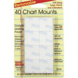 Magic Mounts® Chart Mounts, 1 x 1, Pack of 40