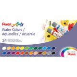 Pentel Arts® Water Colors, 24-Color Set