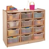 Clear-Tray Storage Cabinet, 12-Tray