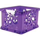 Interlocking Crate, Large, Purple