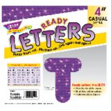 4 Uppercase Casual Ready Letters®, Purple Sparkle