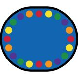 Lots of Dots™ Rug, 10'9 x 13'2 Oval (20 dots), Primary