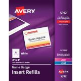 Avery® Name Badge Inserts