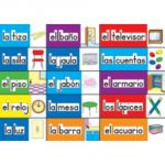 Print-Rich Classroom Labels, Spanish