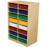 3 Letter Tray Storage, 16-Slot, With Assorted Trays