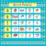 7-Pocket Pocket Chart, Light Blue Marquee, 28