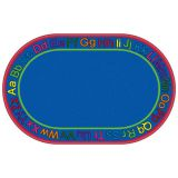 Know Your ABCs Carpet, 7'6 x 12' Oval