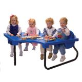 4 Seat Junior Toddler Table, Blue