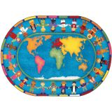 Hands Around the World™ Rug, 7'8 x 10'9 Oval