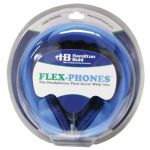 Flex-Phones™ Indestructible Foam Headphones, Blue