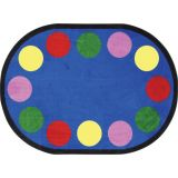 Lots of Dots™ Rug, 5'4 x 7'8 Oval (12 dots), Primary