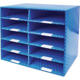 Dry Erase Classroom Storage, 10-Section Mailroom Sorter