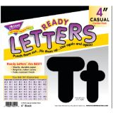 4 Uppercase/Lowercase Casual Solids Ready Letters® Combo Pack, Black