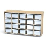 TrueModern® Cubbie Shelf with 20 White Cubbie Trays