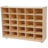 25-Tray Storage, 38H x 48W, Without Trays, Natural