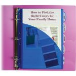 C-Line® Mini 5-Tab Poly Index Dividers with Pockets, Pack of 5