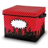 Superhero Storage Bin, Box w/Lid