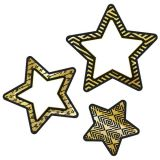 Colorful Cut-Outs® Assorted Designs, Black & Gold Stars