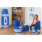 Crayon Seating, Blue