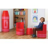 Crayon Seating, Red