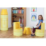 Crayon Seating, Yellow