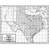 Outline Map, Laminated, Texas