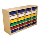 3 Letter Tray Storage, 24-Slot, With Assorted Trays