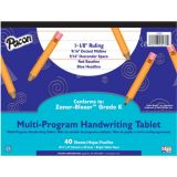 Handwriting Paper, 10 1/2 x 8, Zaner-Bloser™ (K), 40 sheet tablet