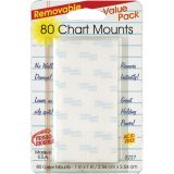 Magic Mounts® Chart Mounts, 1 x 1, Pack of 80