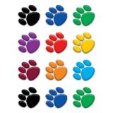 Colorful Paw Prints Accents, 2 5/8 Mini