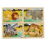 Safari 4-in-1 Jigsaw Puzzle