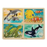 Sea Life 4-in-1 Jigsaw Puzzle