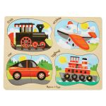 Vehicles 4-in-1 Peg Puzzle