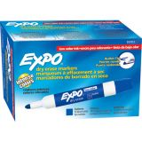 Expo® Low Odor Dry Erase Markers, Bullet Tip, Blue