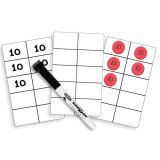 Sensational Math™ Write-On/Wipe-Off Ten-Frame Cards, Pack of 30