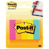 Post-it® Page Markers, 1/2 x 2, 500 strips