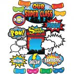 Superhero Bulletin Board Set