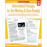 Informational Passages for Text Marking & Close Reading, Grade 5